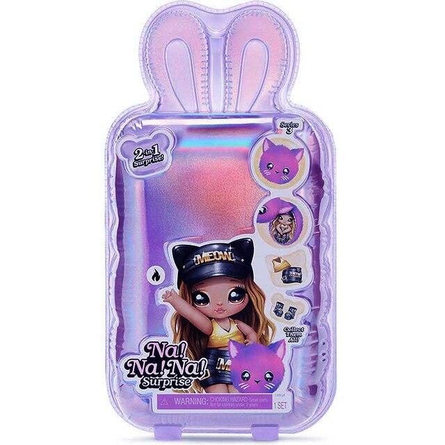 Nd! Nd! Nd! Surpresa 2-em-1 moda lols boneca e bolsa de pelúcia série 4-paula purrfect