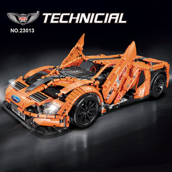 Lepining 10792 Technic Series Bricks The MOC Fords GT APP RC Racing Car Model Kit Building Blocks Hypercar Toys For Children DIY lepin 05072 star plan series the limited edition malevolence warship set building blocks bricks diy 9515 toys model for children