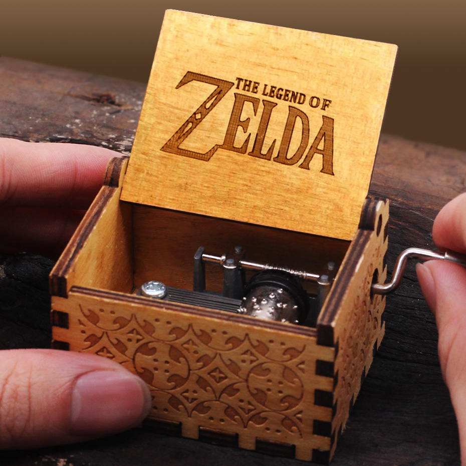 Wooden Music Box Queen ZELDA Pinks Panther Game Of Thrones Angels Love Beauty Wooden Theme Music Box Christmas Gift Jewelry Box
