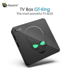 Beelink-Tv Box gt-king, decodificador de señal con 4GB, 64GB, Amlogic S922X-H, reproductor multimedia IPTV, 1000M, Lan, Bluebooth 5,0, Android 9,0, mando a distancia con voz