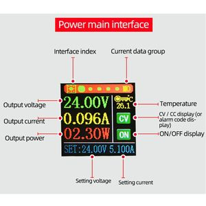 Image 3 - XYS3580 تيار مستمر دفعة محوّل خفض الجهد الكهربائي CC CV 0.6 36 فولت 5A الجهد وحدة منظم الفولتية