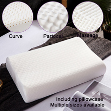 Pure Natural latex Pillow Remedial Sleeping Bedroom Pillow Head Neck Support Care Vertebrae Health
