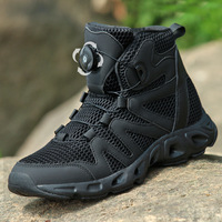 Outdoor Military Light Breathable Non Slip Tactical Boots Men Hiking Camping Trekking Fishing Climbing Rapid Response Shoes|Hiking Shoes|   -