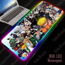 XGZ Naruto Gaming Mouse Pad RGB Large Mouse Pad Gamer Big Anime Mouse Mat Computer Mousepad Led Backlight XXL Keyboard Desk Mat xgz nebula rgb large gaming starry mouse pad gamer led computer pad big mat with backlight for keyboard desk