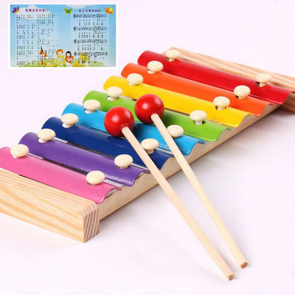 Hand Knock Wood Piano Kids Toy Xylophone Music Rhythm Learning Baby Kid