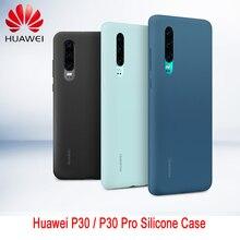 Originale Huawei P30 P30 Pro Caso Della copertura di HUAWEI Ufficiale Liquido In Silicone Protettiva caso Della Copertura In Microfibra Insided Huawei P 30 P 30Pro