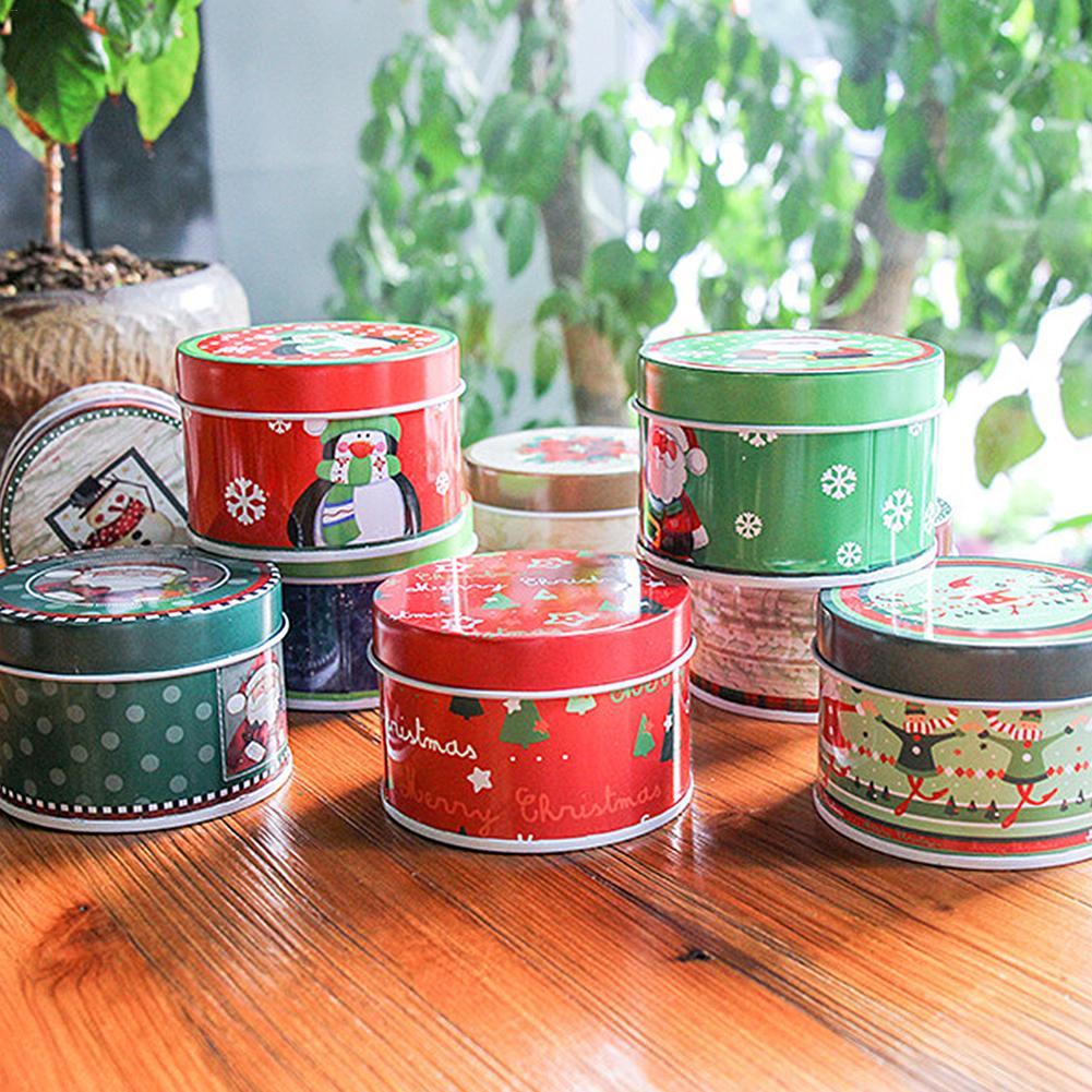 Noël anniversaire fer blanc boîte cadeau Multi fonction boîte pour bonbons boîte de rangement cadeaux de noël décoration de noël pour la maison - 4