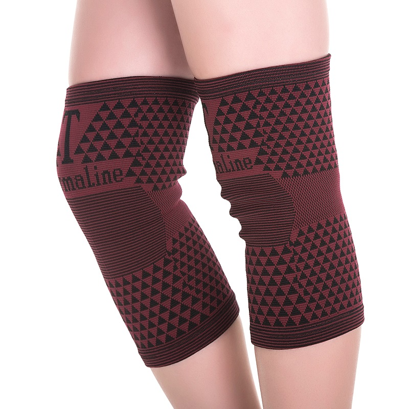 High Elastic Far Infrared Breathable Bamboo Charcoal Knee Support Tourmaline Magnetic Knee Brace Pad Patella