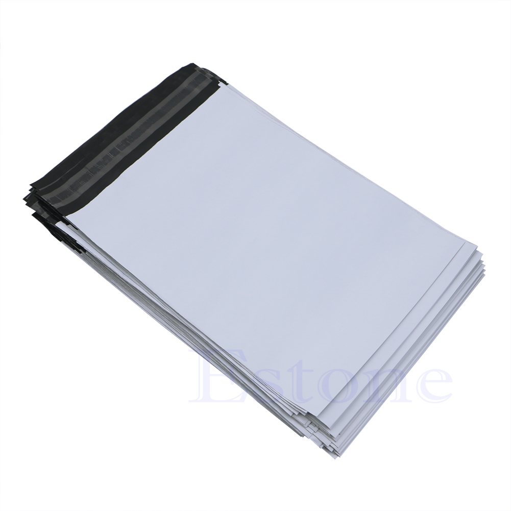 100Pcs 20*34cm Poly Mailer Plastic Shipping Mailing Bags Envelope Polybag New LX9A