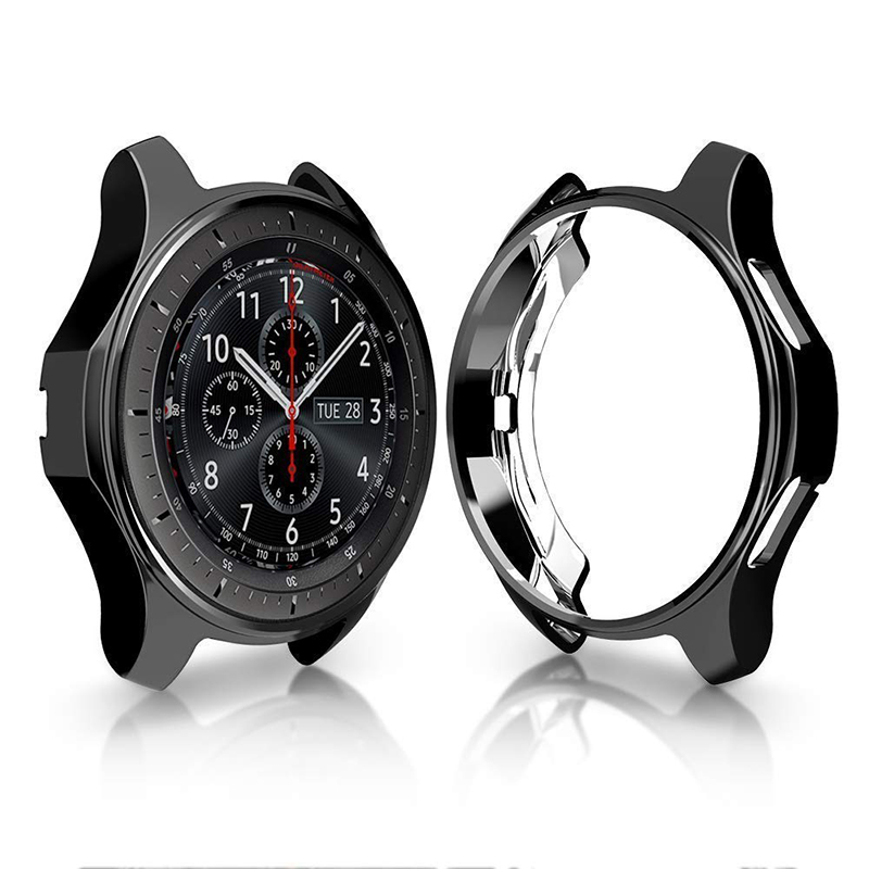 Case For samsung Gear S3 TPU plated All-Around bumper protective shell frame Smart Watch Accessories