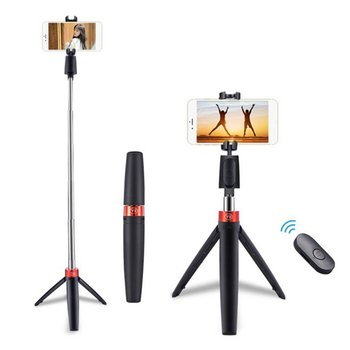 Folding Tripod Wireless Selfie Stick Mobile Phone Universal Live Triangle Bracket One Self-Timer Artifact