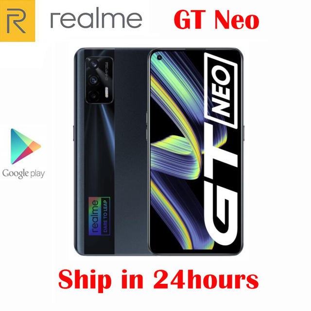 Original Official New Realme GT Neo 5G Smartphone MTK1200 6.43inch 120Hz Super AMOLED 64MP Camera NFC 4500Mah 50W Flash Charger 6