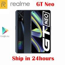 Oficjalny oryginalny telefon komórkowy Realme GT Neo 5G MTK1200 6.43 cala 120Hz Super AMOLED 4500Mah NFC 50W ładowarka Flash 64.0MP