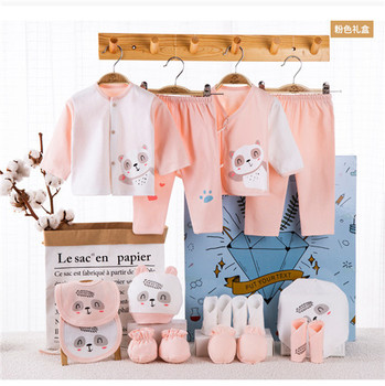 18 Piece/lot Newborn Baby Gift Set Combed Cotton Clothes Infant Girl Rompers Pure Suits Soft Autumn Boys Clothing Without Box - 18pcs-F, Newborn