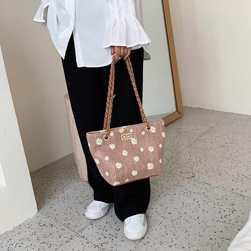 Nieuwe Bloem Vrouwen Tassen Voor Zomer Ketting Bolsos Bimba Y Lola Lady Strozak Reizen Schoudertassen Voor Vrouwelijke Sac een Belangrijkste Femme 2020