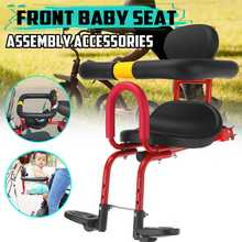 Front-Seat-Saddle-Cushion Bicycle Baby-Seat Child with Back-Rest Foot Pedals Safety-Carrier