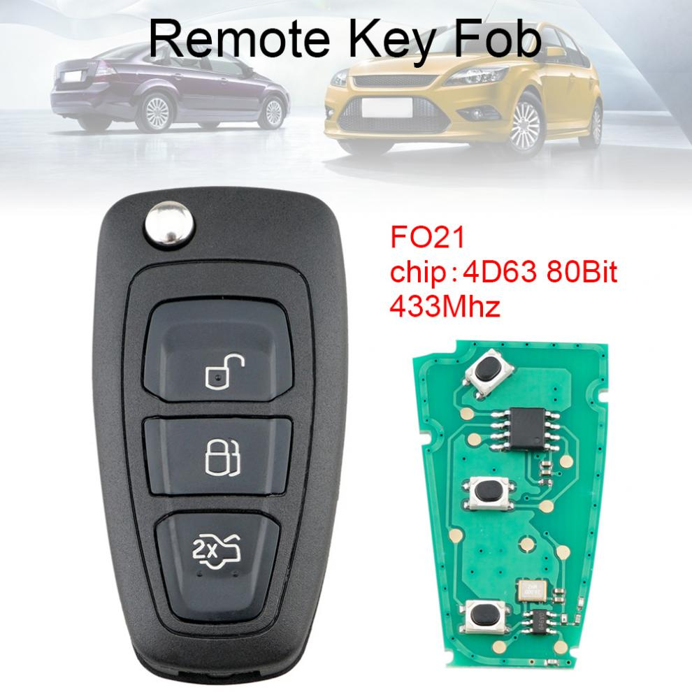 NEW Keyless Entry Key Fob Remote For a 2013 Ford Focus 3 Buttons