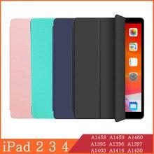 Caso Tablet para A Apple iPad 2 3 4 2th 4th Geração 3th 9.7 A1458 A1459 A1460 A1395 A1396 A1397 A1403 Magnética Caso Tampa Inteligente