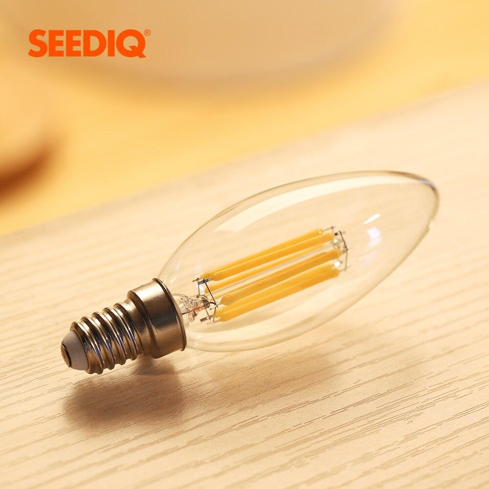 E14 Led Bulb 220v 240v 110v E12 2W 4W 6W C35 Candle Light Bulb Retro Edison Filament Lamp Chandelier Lighting Blub Home Decor