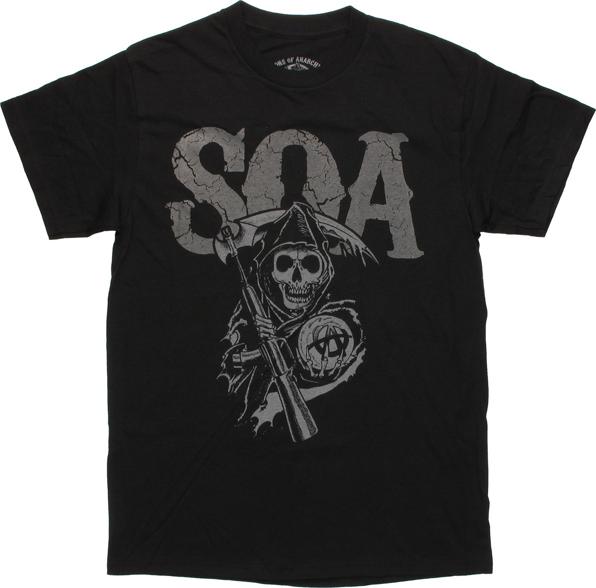 S-XL SAMCRO Distressed Urban Slim Fit Women T-Shirt Officially Licensed SOA