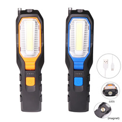 COB LED Worklight USB Rechargeable Power Output Torch Flexible Magnetic Inspection Lamp Flashlight Emergency 8000LM