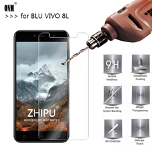 25 Pcs Tempered Glass for BLU VIVO 8L Screen Protector 2.5D 9H Phone Protective