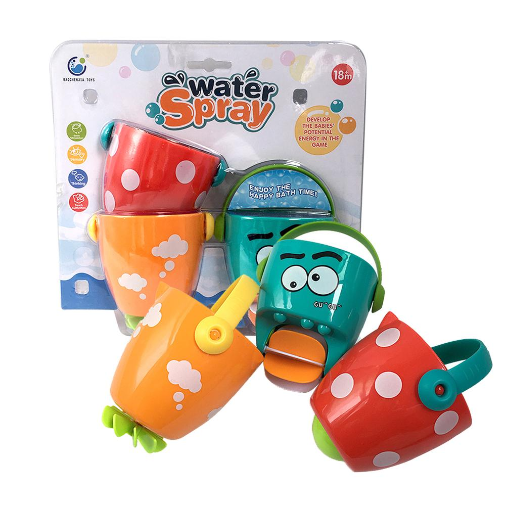3pcs Mini Baby Plastic Leaky Bucket Water Spraying Tools Personality Especially Creative Toddler Shower Bath Toys