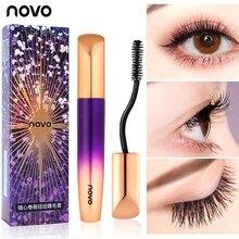 NOVO 360 Curly Twist Black Mascara Eye Makeup 4D Fiber Curling Volume Eyelash Wa