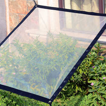 Succulent Plants Greenhouse Anti-cold Thicken Plastic Film Anti-wind Rainproof Awning with 2 x 2m String
