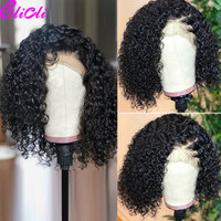 13X4 Transparent Bob Curly Lace Front Wig Human Hair Pre Plucked Remy Malaysian Short Bob Wig 360 Lace Frontal Wig For Women 150
