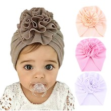Flower Newborn Baby Girl Hat Beanie Cap Baby Hat Turban Lovely Bonnet Caps Solids Baby Shower Props Photography Props