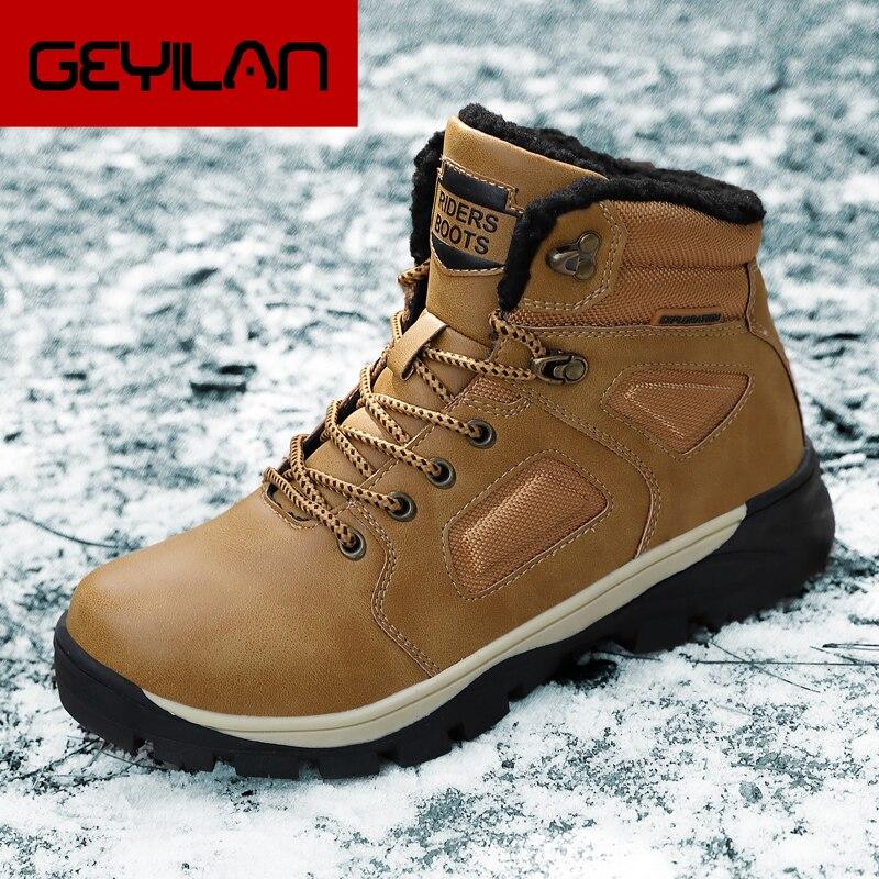 Super Warm Men Winter Boots for Men Warm Waterproof Rain Boots Shoes Men's Ankle Snow Boots Plus size 40~46 Outdoor Boots Men