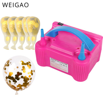 цена на 220V Portable Electric Air Balloon Blower Pump Double Hole Electric Balloon Inflator for birthday wedding party Decoration