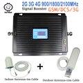Мобильный ретранслятор 900 МГц 1800 МГц 2100 МГц  2g Усилитель сотового телефона  3g Репитер сигнала  усилитель сигнала для сотовых телефонов  компл...