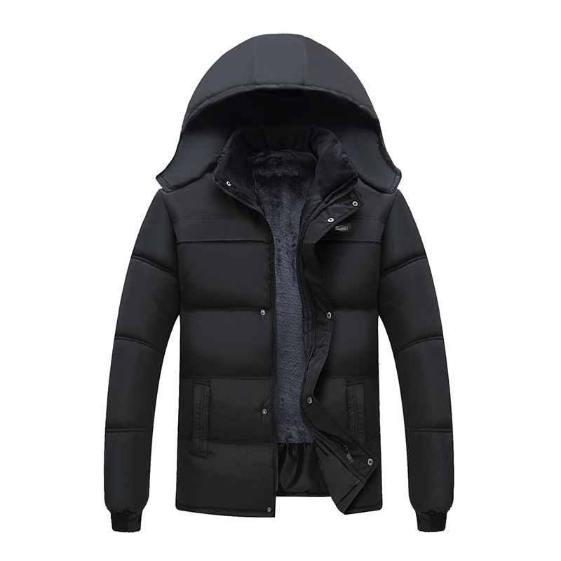 2020 Hot Fashion Hooded Winter Coat Mens Homme For Men Father Thick Warm Windproof Parka Winter Jacket Men Clothes Clotheing