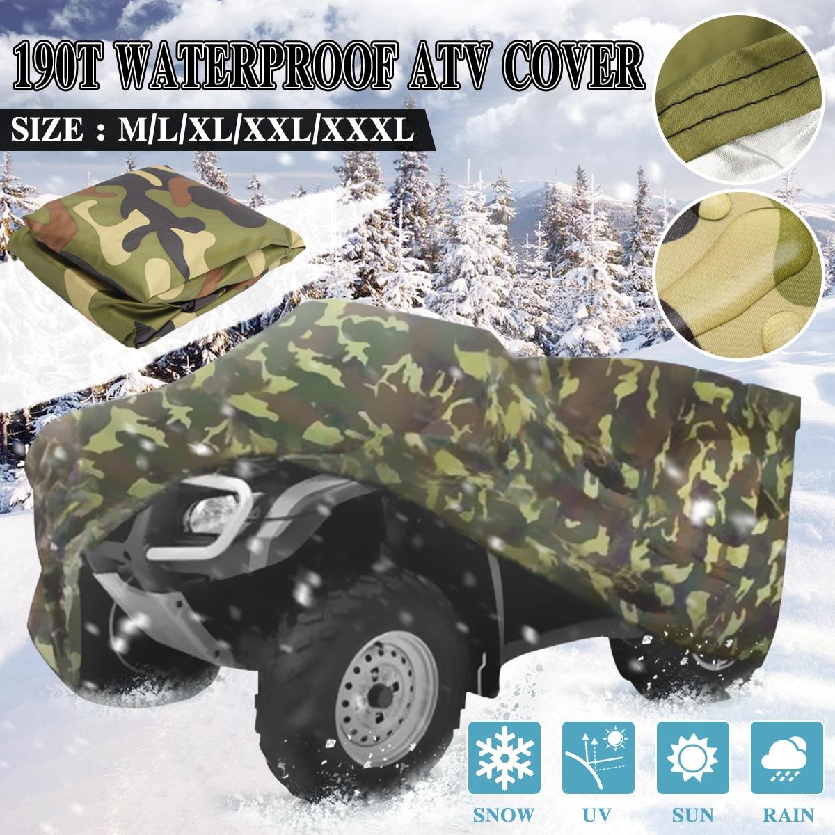 190T Camouflage Waterproof ATV Cover Storage For Polaris Honda Yamaha Suzuki USA