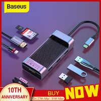 Baseus Multi USB C HUB na HDMI USB 3.0 SD czytnik kart tf adapter vga USB Splitter dla macbook pro air typ C ładowanie USB C Dock