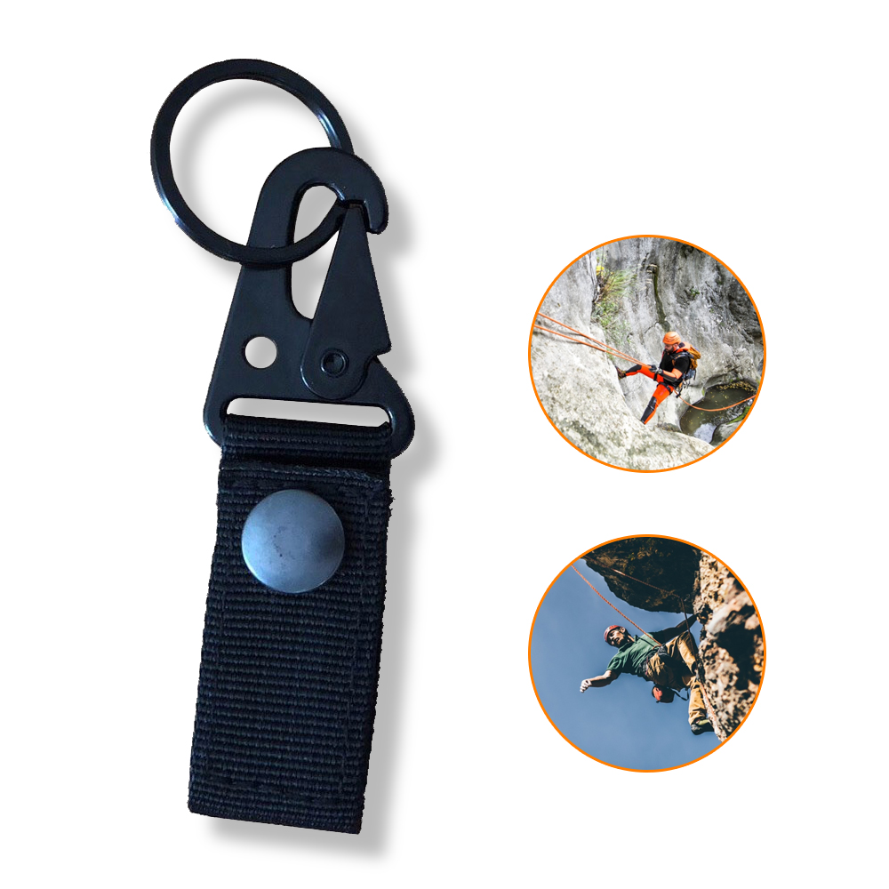 High Strength Nylon Outdoor Climbing Carabiner For Keys Tactical Backpack Hook Webbing Molle Hanging System Waist Belt Buckle