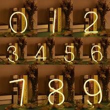 LED number light Shop Wedding Christmas Decoration LED Lamp LED Neon Light  LED Neon Sign Light LED Night Light D35