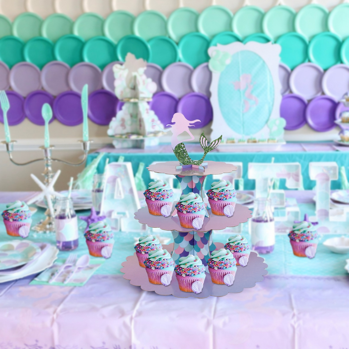 Patimate The Little Mermaid Party Decor Mermaid Birthday Party Decor Kids Wedding Party Decor Birthday Party Favors Baby Shower Buy At The Price Of 0 88 In Aliexpress Com Imall Com