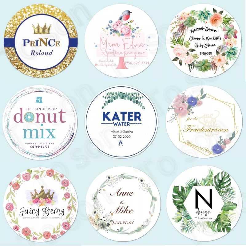 100 Pcs Kustom Pribadi, Stiker Pernikahan, Baby Shower Permen Nikmat Kotak Hadiah Label Ulang Tahun, Logo foto Dekorasi