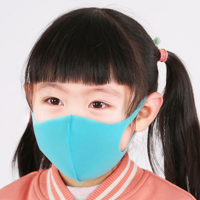 3PCS Childern Mask Sponge Dustproof Masks proof Pollution Cycling Face Mask For Kids 2