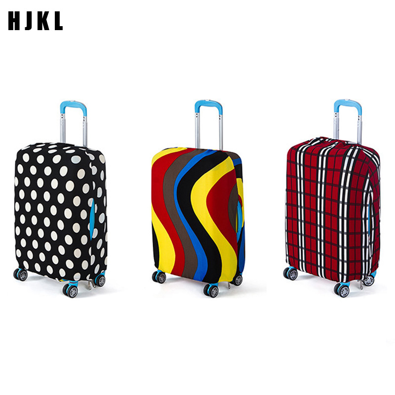 HJKL Thick Elastic Geometric Luggage Protective Cover Fashion Men's Women's Case Suitcase Trolley Baggage Travel Bag Cover