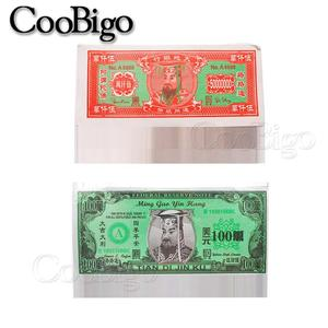1 sheaf Chinese Joss Paper Money Hell Bank Notes The Qingming Festival Burning Paper Sacrifice Articles Set(China)