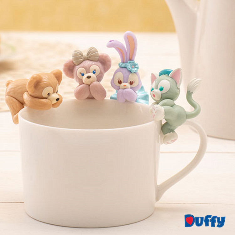 5pcs /set Cartoon  Stellalou Rabbit ShellieMay Duffy Bear PVC Figure Collectible Model Toy Decoration Dolls Gift