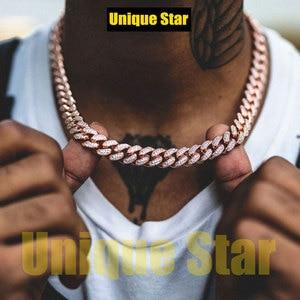 Trendy Stil männer Armband Großhandel 13mm Miami Kubanischen Hip Hop Kette Bling Bling Männlichen Rapper Schmuck Halskette Dropshipping