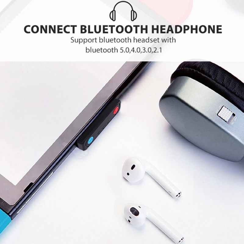 Nirkabel Bluetooth Audio Transmitter USB Tipe C Transceiver Adaptor untuk NS Switch/Saklar Lite/PS4/PC Aksesoris