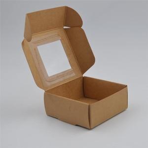 Image 4 - 50pcs/lot Small Paper Box white gift Box Packaging Party Favor Box Brown Kraft Cardboard Box black Carton packaging window boxes