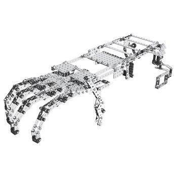 822 Uds juego de montaje manipulador de aleación 3D DIY rompecabezas de Metal modelo Kit rompecabezas juguetes educativos regalo para adultos niños