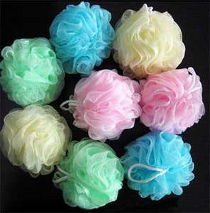 Scrubber Bath-Ball Sanitary-Ware-Suite Bathsite Shower Tubs Wash-Sponge Multicolour Body-Cleaning-Mesh